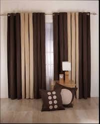 curtain designs for living room brown cream color