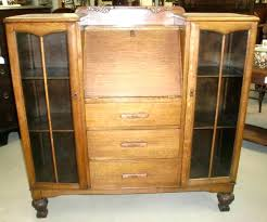 secretary desk with bookcase gorgeous antique oak double bookcase drop front secretary desk combo old finish