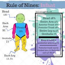 Rule Of 9 S Burn Chart Child Rule Of Nines For Ems Emt Training Base