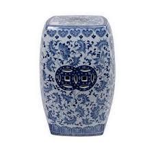 ceramic garden stools. Brilliant Garden Blue And White Ceramic Garden Stool Throughout Stools R