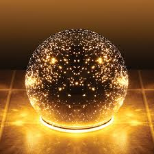lighted mercury glass sphere gazing ball battery powered