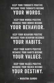 Quotes About Positive Thinking Mesmerizing WORDS BEHAVIOR HABITS VALUES DESTINY LOVE It Pinterest