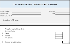 Project Change Order Template Change Order Form Template Excel Zakly Info
