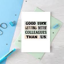 Funny New Job Card Coworker Leaving Good Luck New Job Congrats