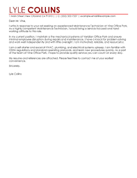 Maintenance Cover Letter Leading Professional Maintenance Technician Cover Letter Examples 4