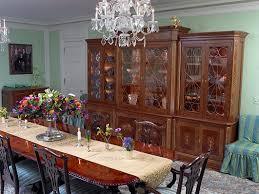 mahogany china cabinet curvilinear glass doors