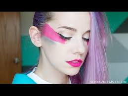 jem and the holograms makeup tutorial