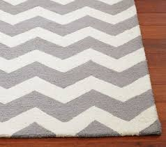 grey and white target chevron rug with the rug company