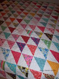 Busy Hands Quilts: Custom Twin Size HST Quilt {Finished!} & I used this method to create 8 half-square triangles at a time. I'm finding  this is a really efficient method, and as long as I pin generously and sew  very ... Adamdwight.com