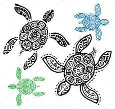 руки Drawn декоративные черепаха этническим орнаментом графические