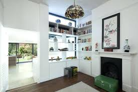 fireplace mantel extension doorway opening ideas living room eclectic with built in corner bookcase white fireplace