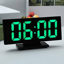 OESFL <b>Digital Alarm Clock</b> LED Mirror Clock <b>Multifunction</b> Snooze ...