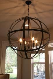 lighting 4 light iron sphere chandelier for modern dining room
