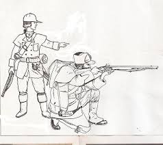 18th century coloring book pages warriors coloring books seven years war british light infantry