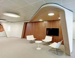 office contemporary design. View In Gallery Warm Wooden Textures On The Wall Office Contemporary Design