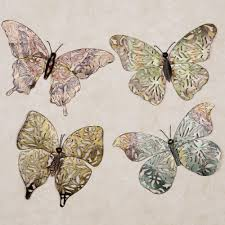 touch to zoom on outdoor metal animal wall art with spring butterfly metal wall art set