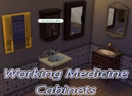 Hospital Medicine Cabinet Mod The Sims Working Medicine Cabinets
