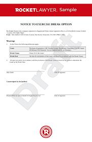 break clause notice uk template make
