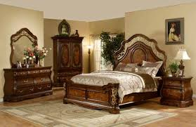 ornate bedroom furniture. Mollai Collection 6PC Bedroom Set With Cherry Finish, Decorative Scrollwork, And Ornate Iron Works Furniture M