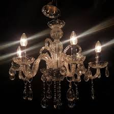 modern italian glass chandelier