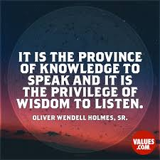 Speak Quotes Adorable It Is The Province Of Knowledge To Speak And It Is The Privilege Of