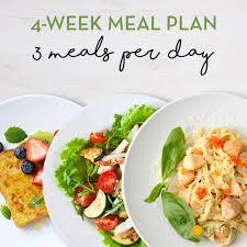 4 Week 3 Meals Per Day Plan Fit Fresh Cuisine