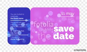 Save The Date Wedding Celebration Invitation Card Template Design ...