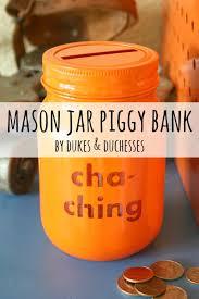 mason jar piggy bank