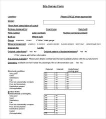 Template For Questionnaire Free 6 Blank Survey Samples In Pdf Word