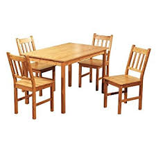 Target Marketing Systems 5 Piece Bamboo Indoor Dining Set with 1 Bamboo  Table and 4 Bamboo