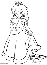 Small Picture Download Coloring Pages Princess Peach Coloring Pages Princess
