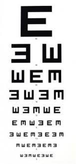 Snellen Chart 6 6 Eye Chart 6 Meter Illiterate E Chart