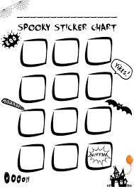 Reward Chart Stickers Free Printable Sticker Chart Free Halloween Printable Mums Days