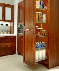 Pull Outs For Kitchen Cabinets Kitchen Beautiful Cherry Wood Pull Out Storage Kitchen Cabinet