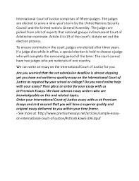 sample essay on international court of justice 2 international court