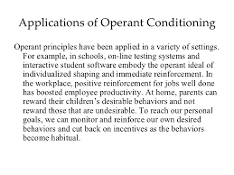 mod operant conditioning 41 applications of operant conditioningoperant