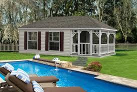 Vinyl Hip style pool house ...