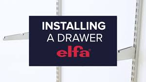 how to install an elfa drawer