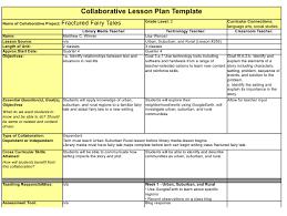 Collaborative Lesson Plan Template Download Printable Pdf