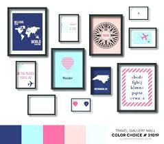 gallery wall art set travel nursery prints decor poster digital