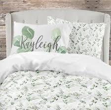 crib bedding set greenery leaf garden