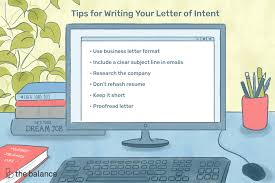 Examples Of Letter Of Intent How To Write A Letter Of Intent For A Job With Examples