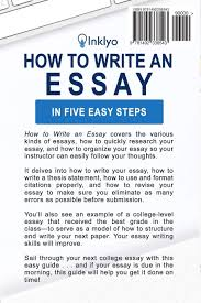 write essay how to write an essay in five easy steps scribendi 9781492338543