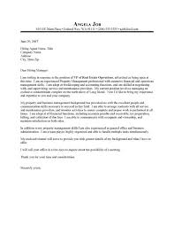 Estate Manager Cover Letter Ask A My Document Blog Sample It Manager