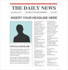 Microsoft Newspaper Template Free Microsoft Newspaper Template For Kids Magdalene Project Org