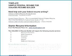 Usajobs Resume Tips Resume Builder Gallery Of 6 Sample Usajobs Example Mmventures Co