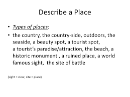 Examples Of Descriptive Essay About A Place Good Places For A Descriptive Essay