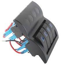 how to wire an led rocker switch 4 gang rocker switch panel marine boat car rv waterproof 12v 24v circuit breaker