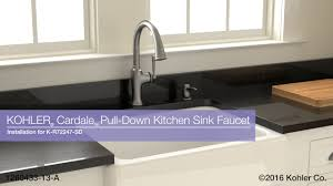Kitchen Faucet Installation Instructions Installation Cardale Pull Down Kitchen Sink Faucet Youtube