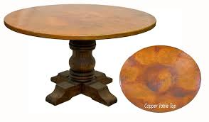 rustic round wood table top rustic copper table round tabl on rustic wood desk pine diy